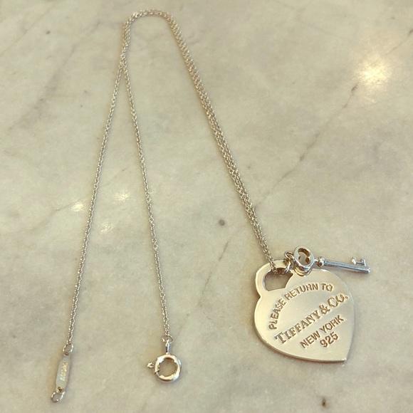 5f9f74b2f64f Jewelry - Tiffany   Co- Heart Tag with Key Pendant necklace